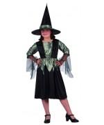costume petite sorciere verte enfant - Halloween