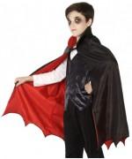 Cape pour enfant réversible, déguisement de vampire halloween