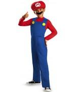 Déguisement de Mario pour enfant de 4 à 12 ans avec combinaison, casquette et moustache