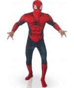 deguisement spiderman adulte Marvel Universe avec torse 3D, bras rembourrés et cagoule