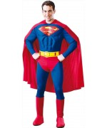 deguisement Superman luxe avec muscle - Costume adulte