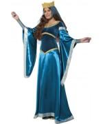 Déguisement de dame médiévale bleue, incarnez la ravissante Marianne