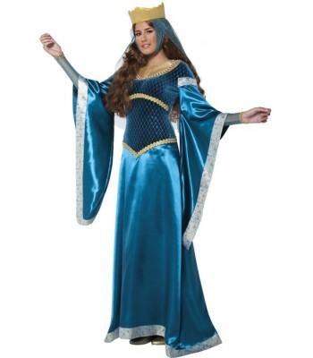 Déguisement dame médiévale bleue Marianne