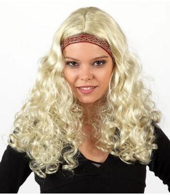Perruque blonde hippie femme