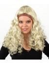 Perruque hippie blonde pour femme