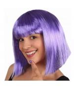 perruque violette mi-longue - accessoire deguisement disco