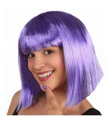 Perruque violette mi-longue