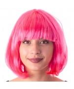 Perruque rose fluo cabaret, adoptez le look fluo des années 80