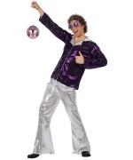 deguisement disco homme violet et argent - WA208S