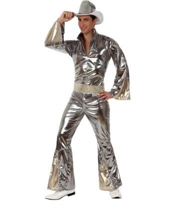 Déguisement disco homme argent