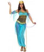 deguisement danseuse orientale bleu - déguisement mille et une nuits - WA239S