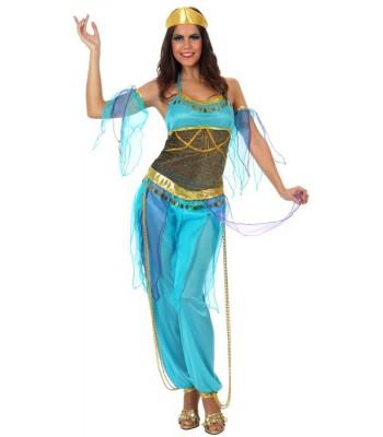 Déguisement danseuse arabe bleue