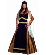 Déguisement de reine médiévale luxe, Léonor femem des croisades médiévales