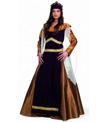 Déguisement reine médiévale luxe