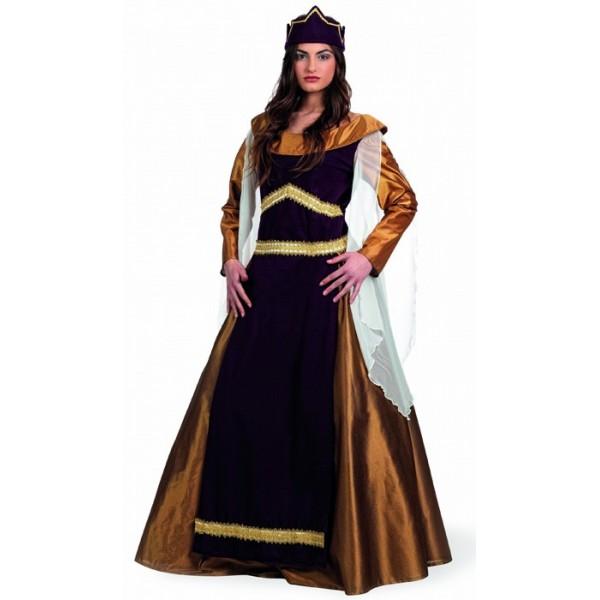 Déguisement de reine médiévale luxe, Léonor femem des croisades médiévales 8710dcc9cace