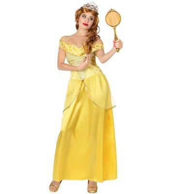 Déguisement princesse jaune adulte