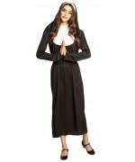 déguisement de bonne sœur pour femme avec robe, coiffe et ceinture