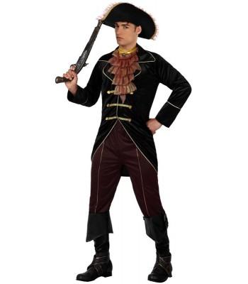 Déguisement pirate noir homme