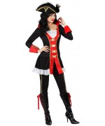 deguisement pirate femme avec pantalon et tunique - costume pirates adultes