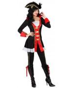 deguisement pirate femme avec pantalon et tunique - costume pirates adultes