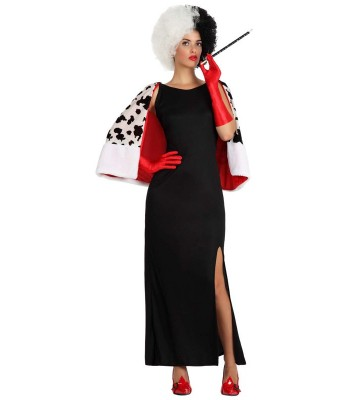 d guisement cruella femme la magie du deguisement personnages dessin anim. Black Bedroom Furniture Sets. Home Design Ideas