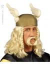 perruque asterix avec moustache - accessoire costume gaulois