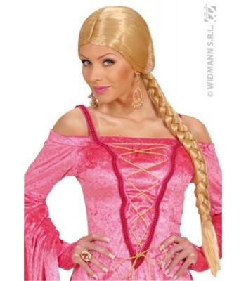 Perruque blonde avec tresse