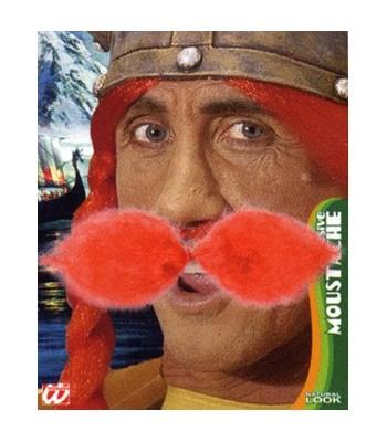 Moustache gaulois roux
