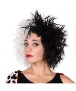 Perruque Cruella - deguisements dessins animés noirs et blancs - WA174A