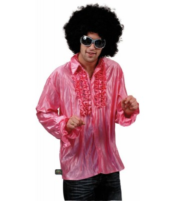 Chemise disco rose pour homme