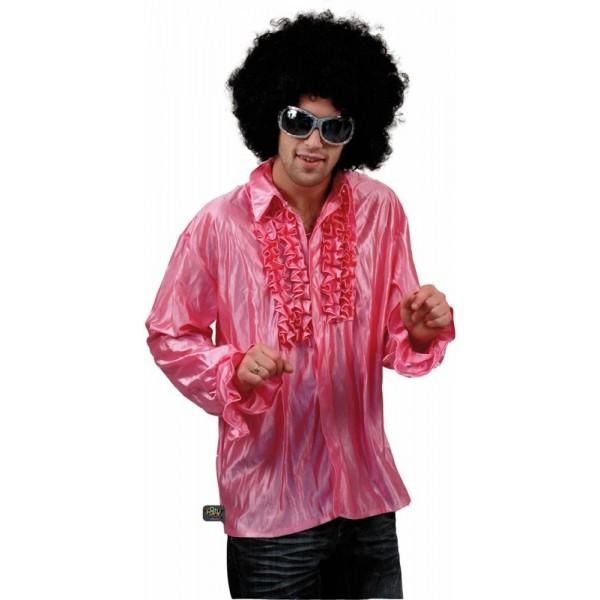 chemise disco rose homme pour d guisement disco la magie. Black Bedroom Furniture Sets. Home Design Ideas