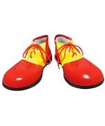 Chaussures de clown rouges et jaunes idéale pour compléter votre costume de clown