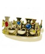 couronne roi medieval couleur or - accessoire deguisement