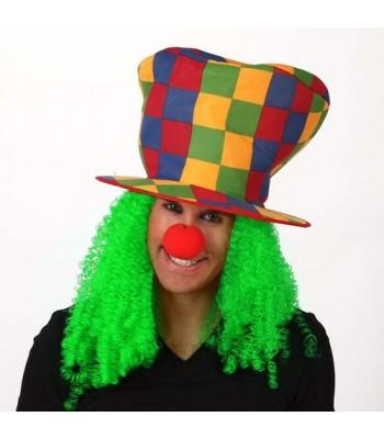 Chapeau de clown avec cheveux