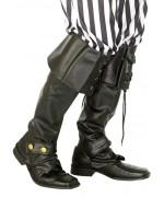 sur-bottes noires deguisement pirate