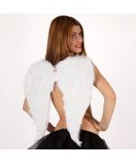 deguisement ailes ange - couleur blanche - 58 x 52 cm