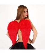 Paire d'ailes d'ange en plumes de couleur rouge - WA098A