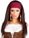 perruque femme pirate avec bandana - BZ140A