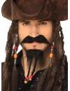 Bouc et moustache pirate des caraïbes