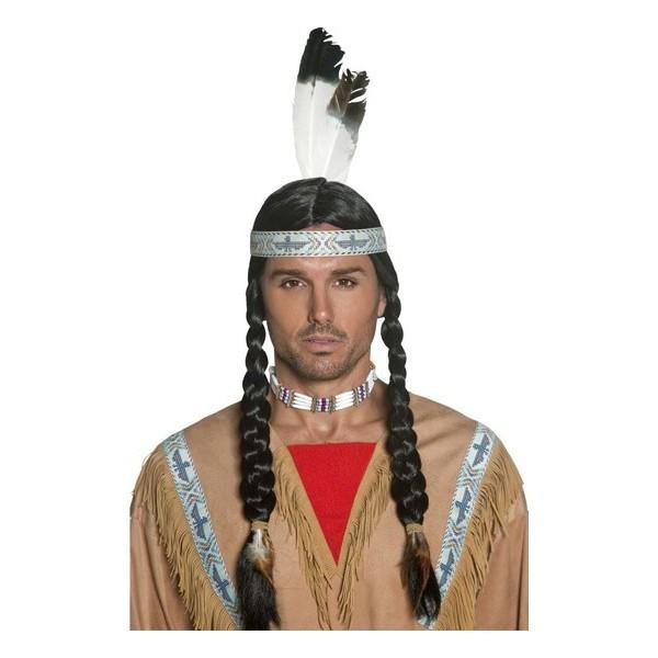 perruque indienne mixte la magie du deguisement achat vente perruques indiennes. Black Bedroom Furniture Sets. Home Design Ideas