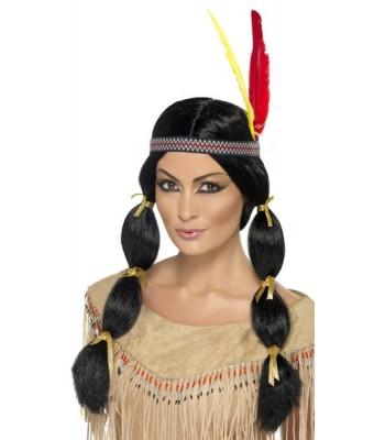 Perruque indienne avec bandeau