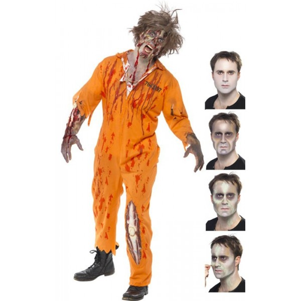 maquillage zombie avec latex la magie du deguisement achat deguisement et maquillage halloween. Black Bedroom Furniture Sets. Home Design Ideas