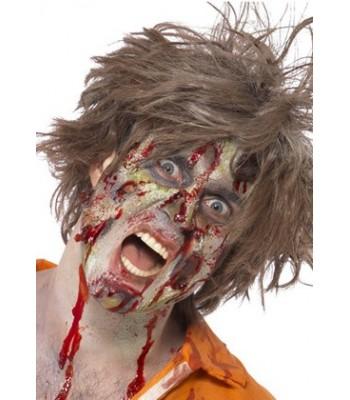 Maquillage zombie avec latex