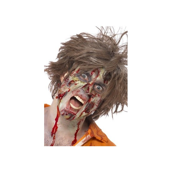 maquillage zombie avec latex , deguisements zombie halloween