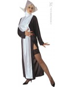 """deguisement bonne soeur religieuse sexy noir et blanc, incarnez soeur Clothilde de la saga """"le gendarme à saint tropez"""""""