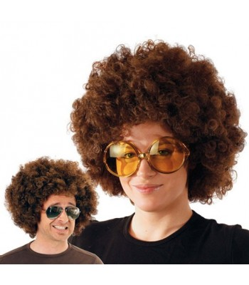 Perruque afro chatain