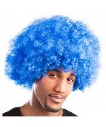 Perruque disco afro bleu pour homme, adoptez un look rétro et flashy