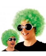 perruque afro verte adute - accessoire disco