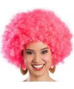 Perruque disco afro rose pour femme, adoptez la coupe afro pour votre soirée années 80