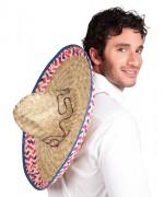 Sombrero mexicain 52 cm - chapeau mexicain en paille